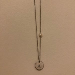 "Monogrammed ""A"" Necklace"